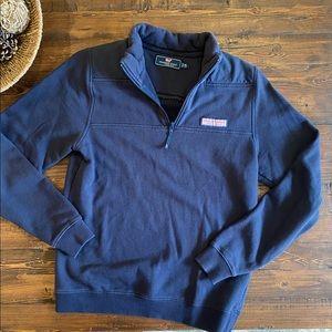 Vineyard Yards Navy Blue Shep Shirt 1/4 zip